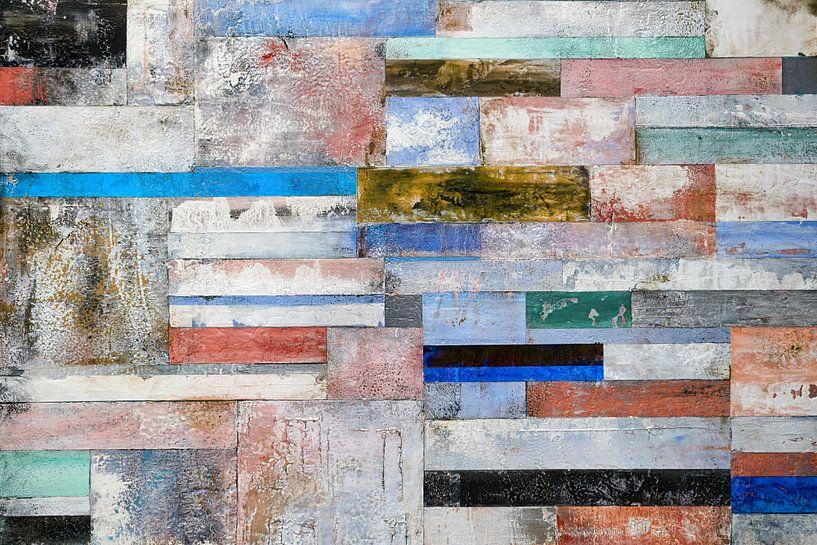 Merhrfarbiger Hintergrund in Querstreifen van Andre Sinzger