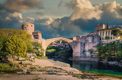Stari Most, de oude brug in Mostar, Bosnië-Herzegovina
