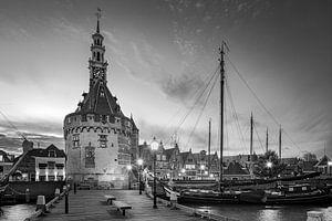 De haven van Hoorn in Zwart-Wit