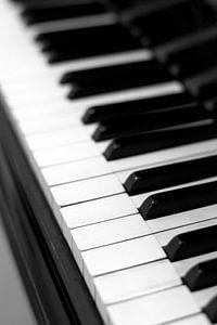 Piano sleutel zwart-wit beeld van