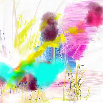Moderne abstrakte Malerei von Nicole Habets