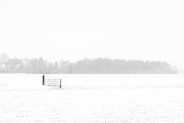 Zaun im Schnee. von Anita Lammersma