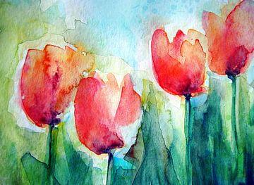 Tulpen am Haus von christine b-b müller