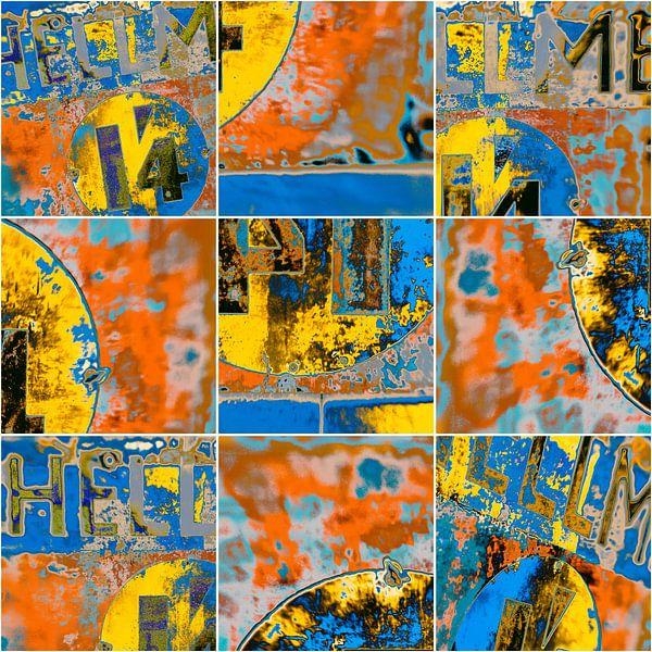 Colorful rust - collage van Rob van der Pijll