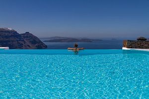 Santorini Infinity Pool I van Erwin Blekkenhorst