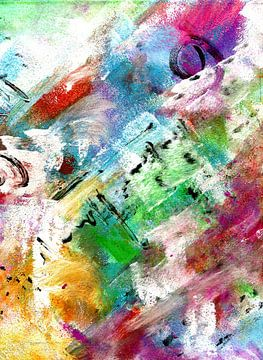 """Abstract """" kleuren van lente """" van Claudia Gründler"""