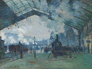Aankomst van een trein in Normandie - Claude Monet van