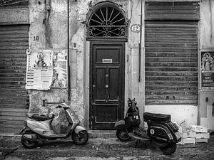 Deur naar Palermo, Sicilië (Italië) van
