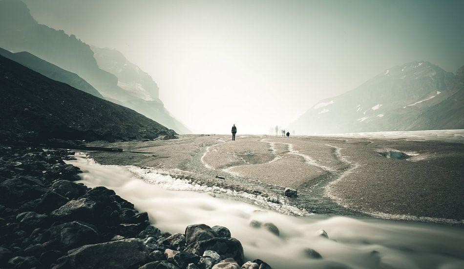 Gletsjer in Canada van Jip van Bodegom