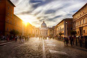 Zonsondergang in Rome van Eus Driessen