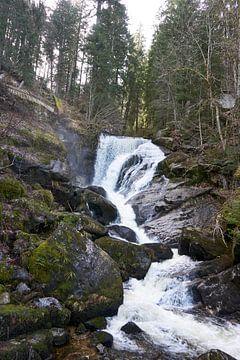 Imposante en prachtige Triberg watervallen in het Zwarte Woud van creativcontent