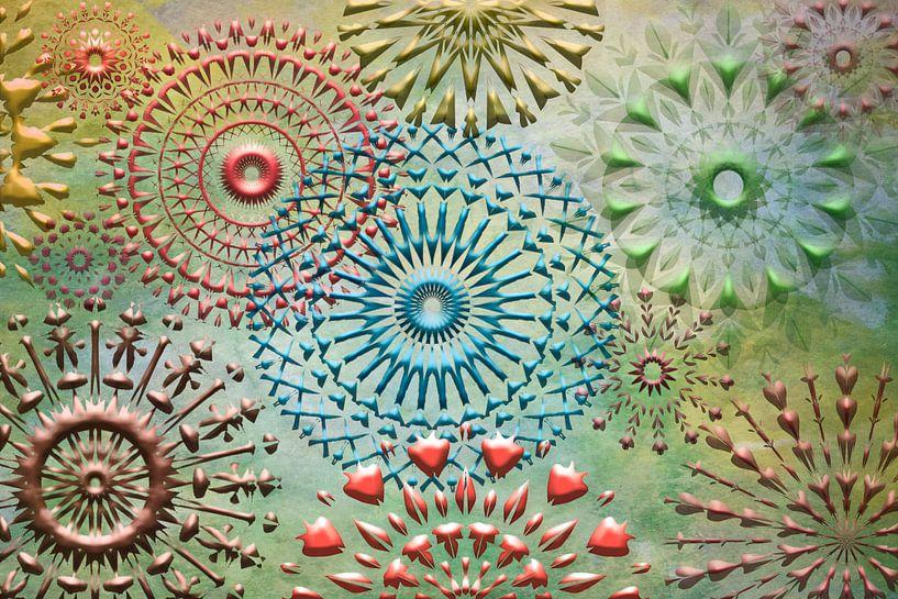 Collage mandala van Rietje Bulthuis