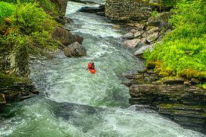 Kajakker in een rivier