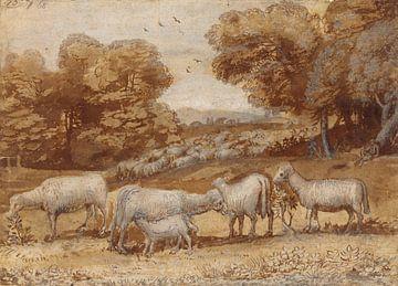 Paysage avec des moutons, Claude Lorrain sur