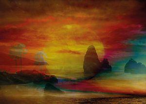 Zonsondergang aan zee van Andreas Schulte