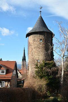 Mittelalterlicher Wehrturm zur Verteidigung der Stadt Wernigerode im Harz von Heiko Kueverling
