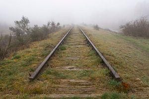 Oude spoorlijn €œBorkense Baan€ in de gemeente Winterswijk ge