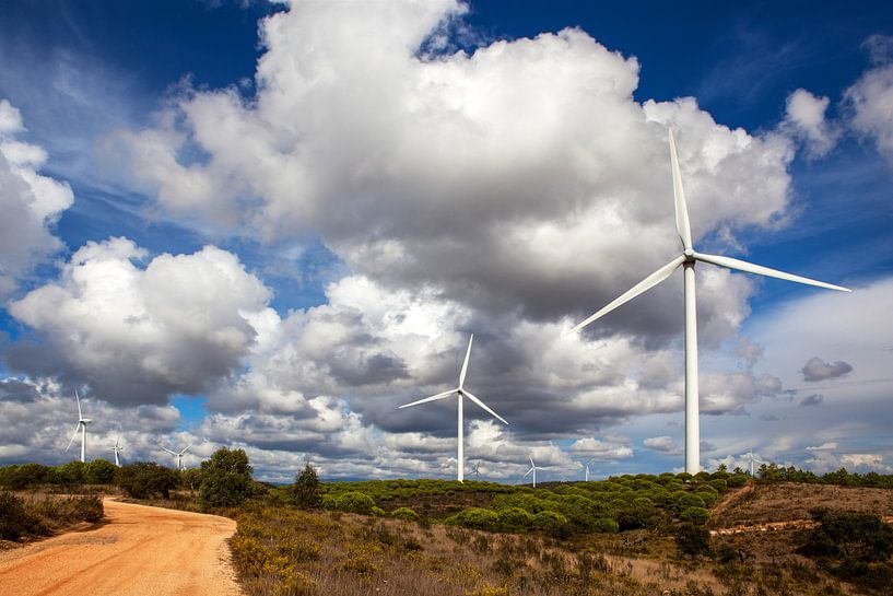 Windmolens in Portugal van Jacqueline Lemmens