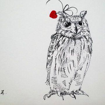 HeartFlow Uil von Helma van der Zwan
