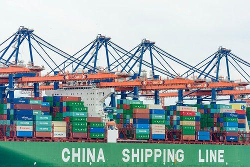 Container schip von Sjoerd van der Wal