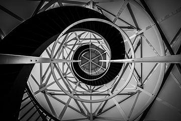 Le phare de Lemmer en noir et blanc sur By Derk