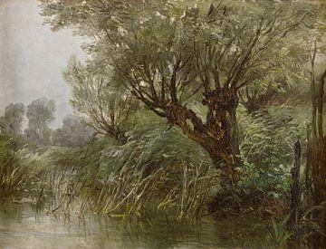Carlos de Haes-Flussufer-Weidelandschaft, Antike Landschaft