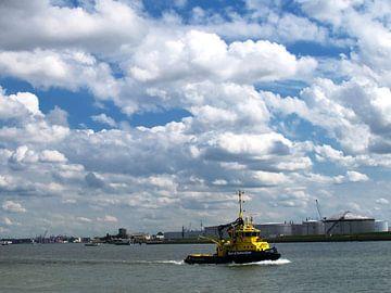 Inspectie vaartuig op de Nieuwe Waterweg van M  van den Hoven