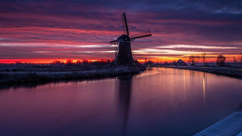 Uitzicht over de Vlist van Wim van der Wind