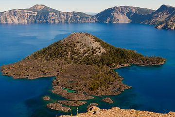 Het meest blauwe Crater Lake van Stefan Verheij
