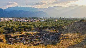 Het oude en het nieuwe Sparta (Griekenland) van