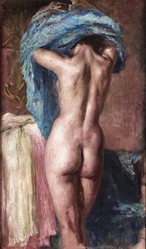 Mariano Fortuny y Madrazo, Weiblicher Akt von hinten - 1943 von Atelier Liesjes