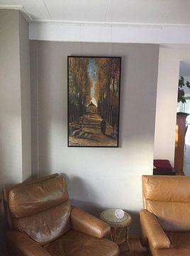 Kundenfoto: Vincent van Gogh. Populieren in ihr herfst