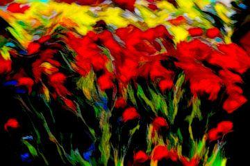 Mohn und Kornblumen unter dem Getreide. von Francis Dost
