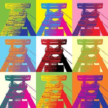 Förderturm Pop Art von Gabi Siebenhühner