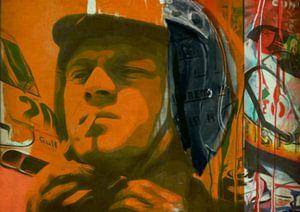 Steve McQueen - Orange Vintage - Le Mans
