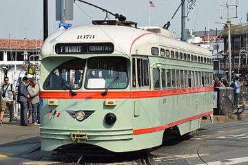 Alte Straßenbahn in San Francisco von Nancy Robinson