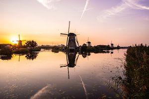 Moulins à vent sur le Kinderdijk.