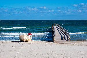 Fischerboote an der Ostseeküste bei Zingst auf dem Fischland-Darß