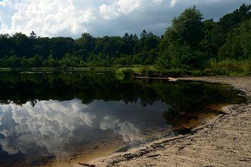 Ein kleiner See in einem Waldgebiet von Drenthe von Jan Verschoor