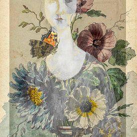 The girl with the flowers von Gabi Hampe