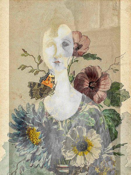 La fille avec les fleurs sur Gabi Hampe