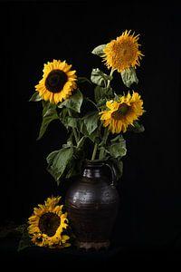 Zonnebloemen in Kan van Eddy 't Jong