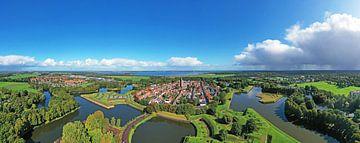 Luftpanorama der Festung Naarden in den Niederlanden von Nisangha Masselink