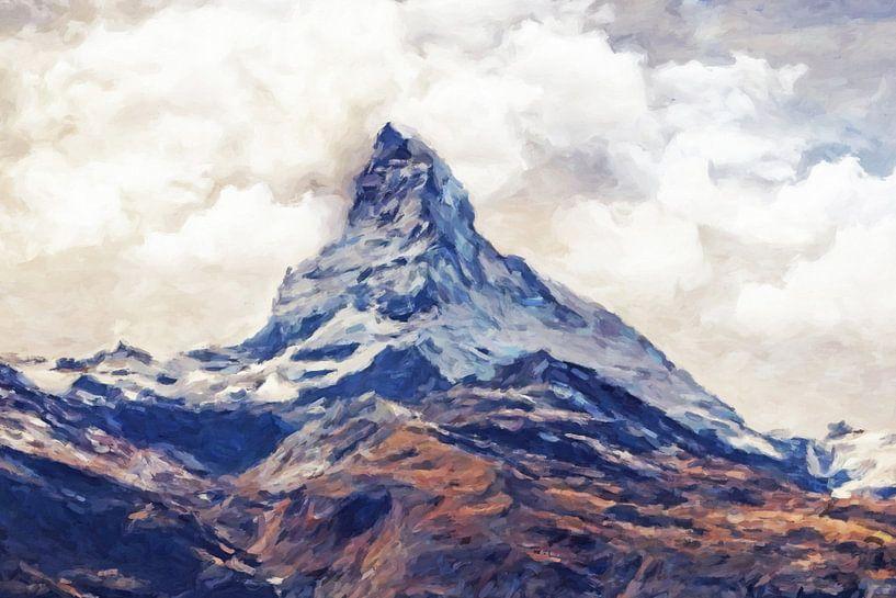 Matterhorn-abstrakt von Marion Tenbergen