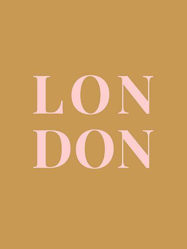 LONDON (in goud/roze)