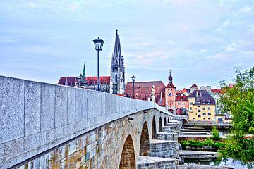 Vue du Stadtamhof sur la cathédrale de Ratisbonne sur Roith Fotografie