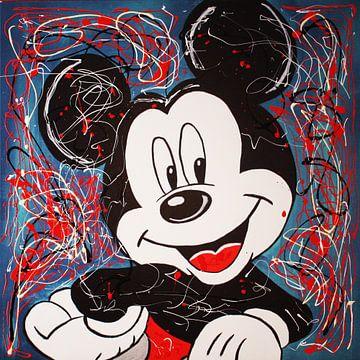 Mickey Mouse - Graffiti van Kathleen Artist Fine Art