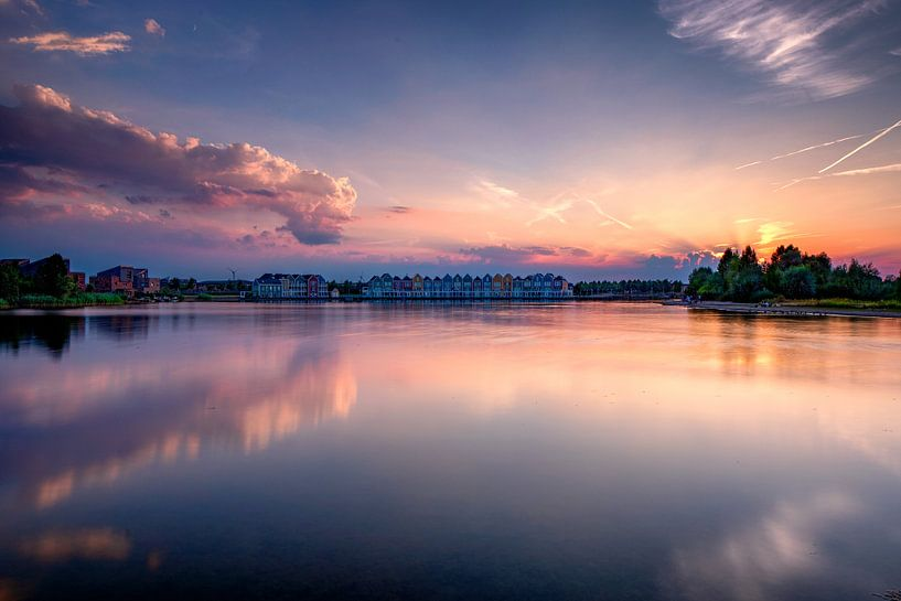 Zomerse zonsondergang van Rene Siebring