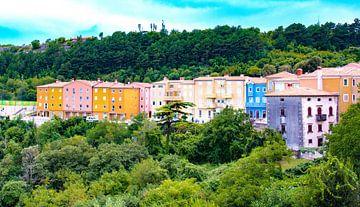 Häuser in Farbe_01 von Johan Honders