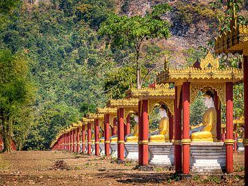 Myanmar - Hpa-An - Duizend keer Boeddha van Rik Pijnenburg